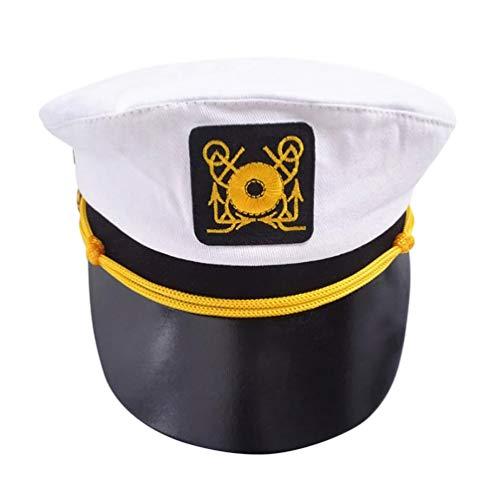 Kapitän Kostüm Und Flugbegleiter - Holibanna polizeifrau Hut flugbegleiter Hut Erwachsene kapitän Cosplay Kappe seemann Leistung Requisiten Rollenspiel Hut