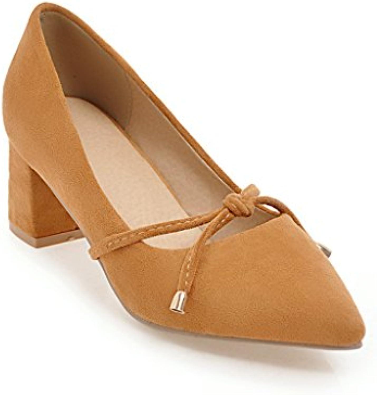 En la primavera de bold y confortables con luz de punta de zapatos de mujer solo zapatos, Amarillo 37