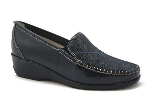 Mocassino Kelidon linea comfort, scarpa in pelle con suola gomma flessibile e antiscivolo, Estivo-2834