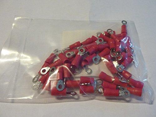 profitec 50 Stück Kabelschuh Ring M 3 rot für Kabel 0,5 mm² - 1,5 mm²
