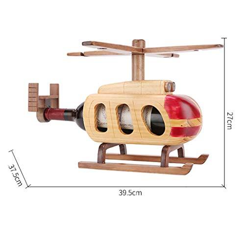 Liuxiong Weinregal Massivholz Flugzeug Rotwein Becherhalter European Creative Display Stand Wein Treibende Dekoration 39,5 × 37,5 × 27 cm