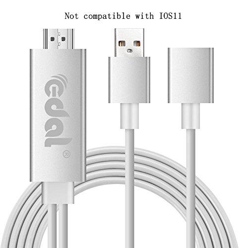 Kasitek Lightning zum HDMI Kabel, Weißer Blitz zum HDMI Adapter Verbindungsstück Volles HD 1080P für iPhone 7 7 plus 6s 6s plus 6 6 plus 5 5c 5s SE, iPad Luft / Mini / Pro, Samaung,Huawei (Plug & Play) Dc-6 Micro-usb