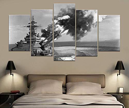 Dxycfa Cinco Cuadros Decorativos Arma De Guerra Naval