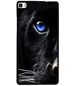 ColourCraft Cat Look Design Back Case Cover for HUAWEI P8