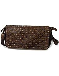 SWISH iO.iO.mIO vintage sac à main/pochette en cuir couleur au choix :  30 x 15 x 5 cm (largeur x hauteur x profondeur)