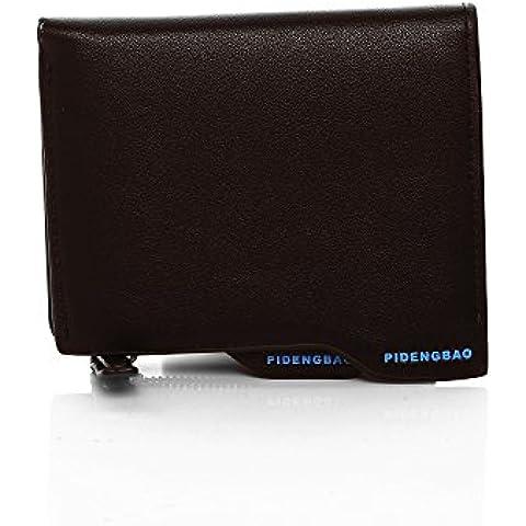 Pidengbao portafoglio in pelle di vacchetta, Portafogli da uomo per Business Card Holder