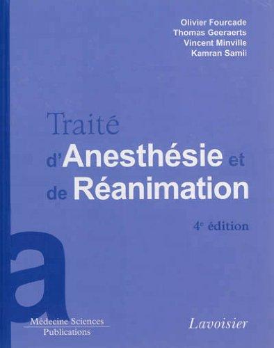 Trait d'anesthsie et de ranimation