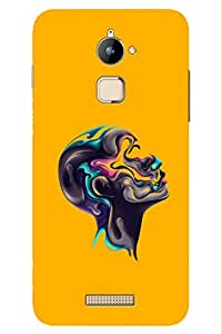 AMAN Graffiti Human Head Design 3D Back Cover for Coolpad Note 3 Lite