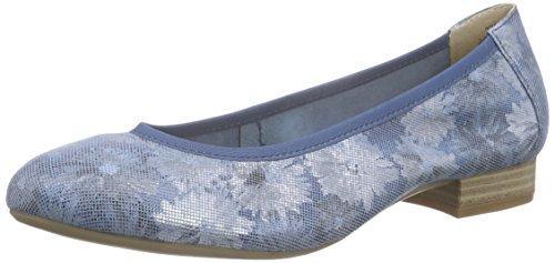Caprice Damen 22161 Geschlossene Ballerinas Blau (OCEAN SUE.COMB 883)