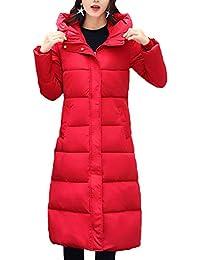 Mujer Abrigo Acolchado Largos Invierno Fashion Anchos Tallas Grandes Basic Parka Invierno Manga Larga Encapuchado Espesar