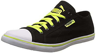 Puma Unisex's Streetballer Dp Puma Black and Safety Yellow Sneakers - 10 UK/India (44.5 EU) (36176110)