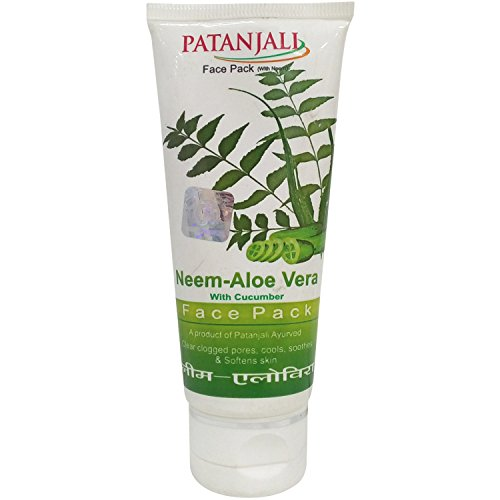 Patanjali Face Pack - Neem and Aloe Vera with Cucumber, 60g Tube