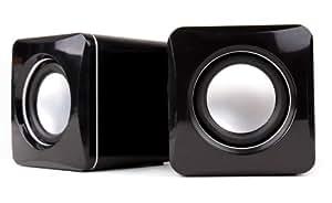 Mini enceintes / haut-parleurs multimédia par prise USB pour Ordinateur portable, Netbook et PC de bureau, par DURAGADGET