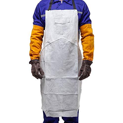 YLOVOW Professionelle Kochschürze Chefkoch für Küche BBQ Grill, Schutzkleidung für Isolationsschweißer, Elektroschweißschürze -