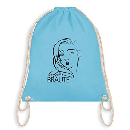 JGA Junggesellinnenabschied - Heiße Bräute - Unisize - Hellblau - WM110 - Turnbeutel & Gym Bag