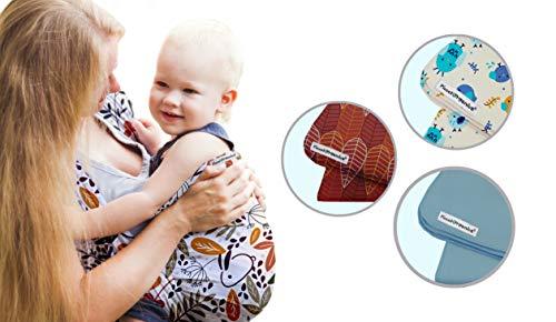PiccolOrganics, Fular Portabebe Ergonómico Organico - GOTS, Mochila Ergonomica Porteo Bebe | Foulard Portabebes Recién Nacido Bebé y Niño Verano e Invierno | Sling Wrap con Evaluación de Seguridad
