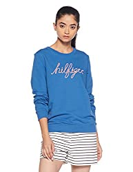 Tommy Hilfiger Womens Cotton Sweatshirt (A7AWH105_Turkish Sea_S)