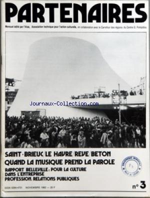 PARTENAIRES [No 3] du 01/11/1982