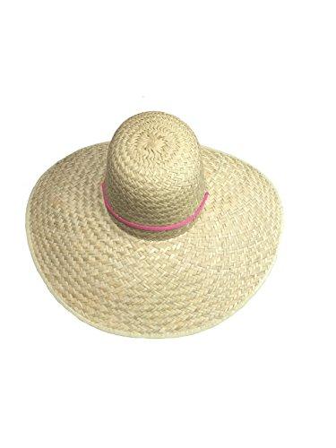 Sonnenhut, halbrund, Strohhut mit Band, Kopfbedeckung, Hut, Universalgröße (Sonnenhut Band)