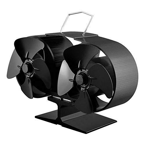 waysad Ventilador de Chimenea Ventilador eléctrico para Chimenea Ventilador - Portátil Ecológico...