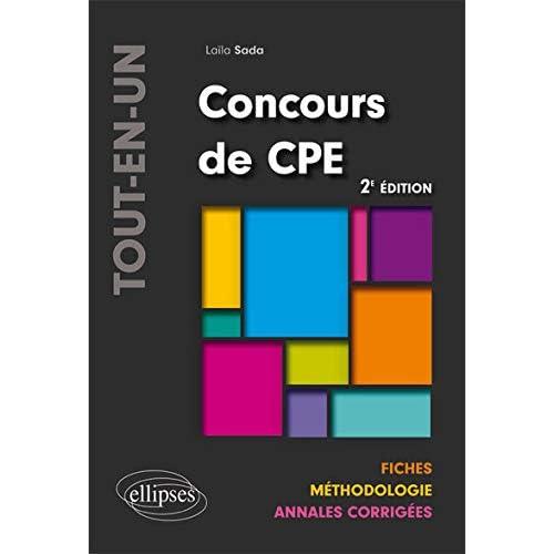 Concours de CPE Tout-en-un Fiches Méthodologie Annales Corrigées