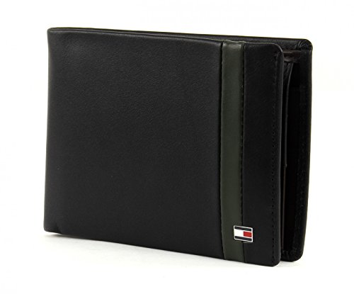 TOMMY HILFIGER Color Block Extra CC and Coin Pocket Black Coffee Bean Rosin