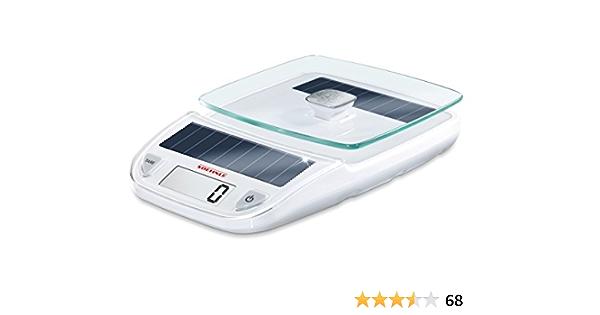 Soehnle Easy Solar white digitale Küchenwaage elektrische Waage mit hoher T...