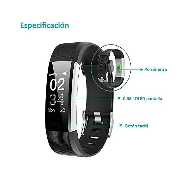 YAMAY Pulsera Actividad con Pulsómetro Mujer Hombre, Monitor de Actividad Deportiva, Ritmo Cardíaco, Impermeable IP67… 8