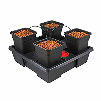 Wilma Small 4 x 6 Litre Pot Hydroponic Dripper System + Black Orchid Pro Timer