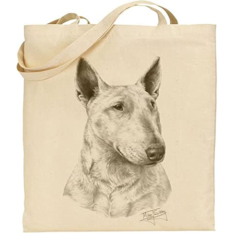 Mike Sibley Bull Terrier Bolsa de algodón Natural