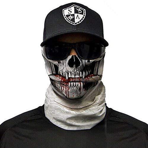 SA Fishing Company Face Shield Sturmhaube viele verschiedene Designs Multiunktionstuch Maske Fishing Totenkopf Schal Skull Bandana Gesichtsmaske Halstuch Ski Motorrad Paintball (Got Bait)