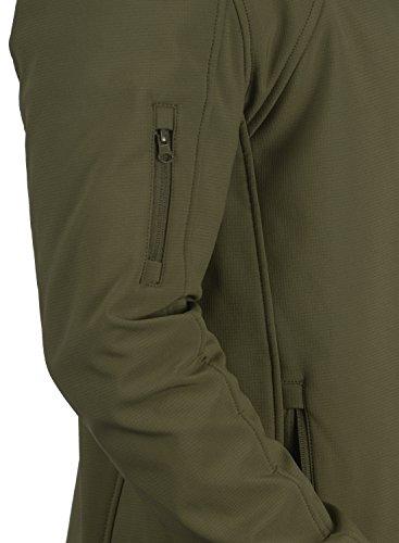 INDICODE Jonas Herren Softshell-Jacke Outdoor Übergangsjacke mit Kapuze aus winddichtem und hochwertigem Material Dark Olive (644)