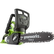 Greenworks Tools 2011740V batería de sierra de cadena 30Cm, incluye 2Ah Batería Y Cargador, 1pieza, Verde, 20117ua