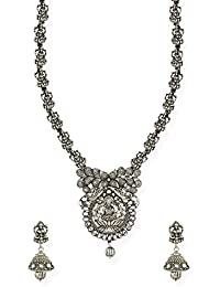 Zaveri Pearls Jewellery Set For Women (Silver) (ZPFK6763)