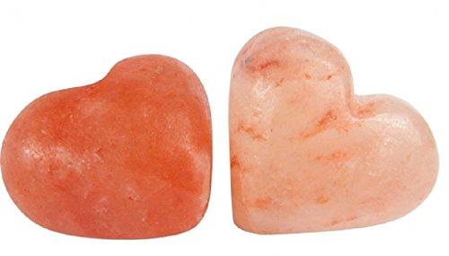 Set Kristall-Salz Herz, 7 cm, 2 Stück / Salzkristall Peeling Seifenstein - Salz-kristalle
