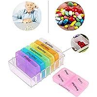 Plastic Medichine Box Seven Day Large Pill Box Medicine Tablets Holder Dispenser Pills Organiser Fashion for Seniors... preisvergleich bei billige-tabletten.eu