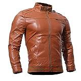 PAOLIAN Herren Strickjacke Lederjacke Langarm Outwear Jacke Mantel Herbst Winter Freizeit Mode Motorrad Oberbekleidung Bomberjacke Tops Oberteil