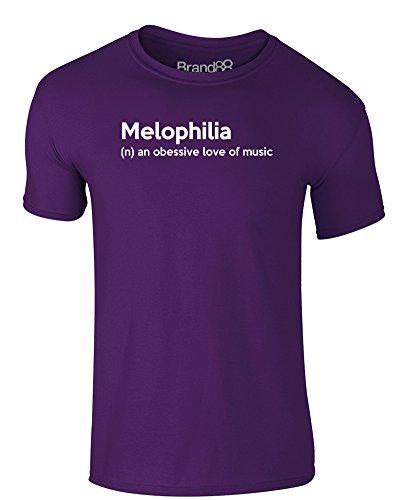 Brand88 - Melophilia, Erwachsene Gedrucktes T-Shirt Lila/Weiß