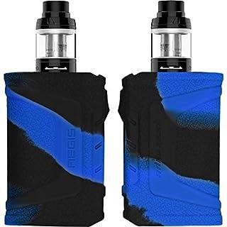 PhoneNatic Case kompatibel mit GeekVape Aegis Legend - Hülle Silikon schwarz-blau Cover Tasche