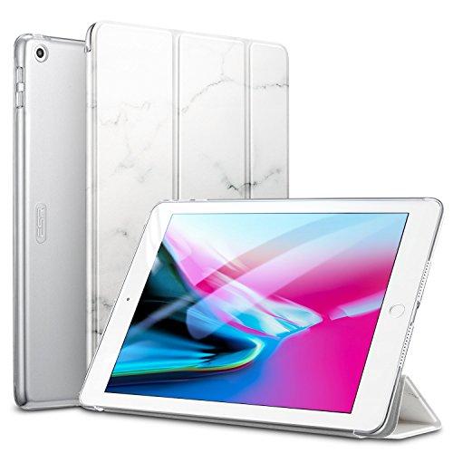 ESR Hülle für iPad Case 9,7 Zoll 2017 (Model A1822 A1823) Ultradünn Smart Case Cover mit Automatische Ruhe-/Aufwachfunktion Durchsichtige Rückseite Schutzhülle für Apple iPad 9.7 Weißes Marmor Design