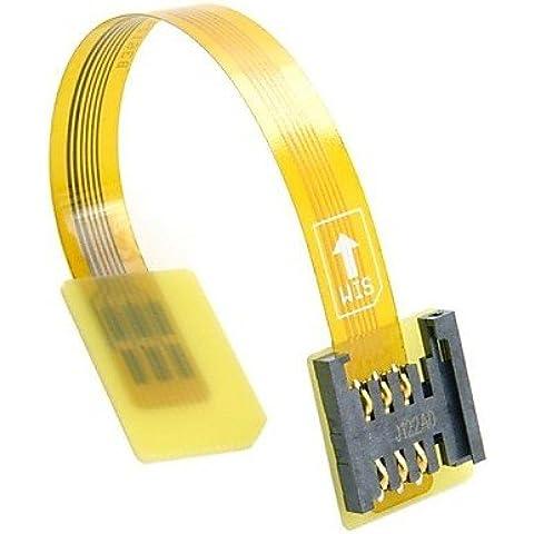 XMQC*Standard GSM UIM SCHEDA SIM Kit da maschio a femmina estensione Soft Flat FPC prolunga (Pedale Prolunga)