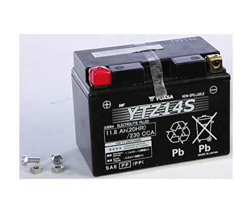 Compatibile con Honda 700 TRANSALP / 700 DEAUVILLE/DN-01 / NC 750 X / NM4 VULTUS - Batteria Yuasa YTZ14S