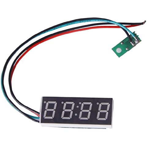 Generic - Reloj digital para moto o coche (formato 24 H, 16 mm, ajustable, 7-30 V), color azul