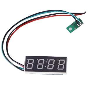 Blau 0.4inch Digital LED Uhr Uhr Auto Motor Motorrad Einstellbare 24 Stunden Zeit DC 7-30V