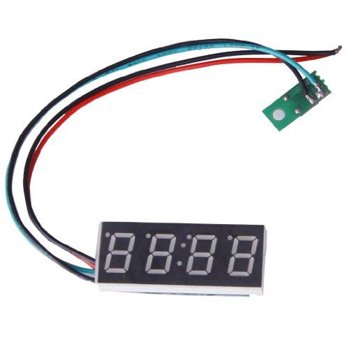Uhr Motoren (Blau 0.4inch Digital LED Uhr Uhr Auto Motor Motorrad Einstellbare 24 Stunden Zeit DC 7-30V)