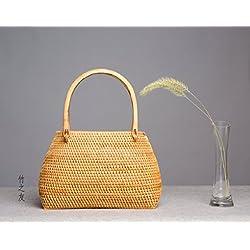 Paquete bolso Retro hecho a mano artesania de bambu