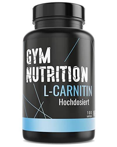 GYM-NUTRITION® - PREMIUM L-CARNITIN 3000 - Ultra hochdosiert, vegan, ohne Zusätze - Beliebt bei Figur bewussten Menschen - 100 Kapseln - Made in Germany