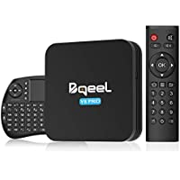 Bqeel Android 9.0 TV Box Y8 PRO con Wireless mini tastiera, Amlogic S905X3 64-bit quad core, 4G RAM+32G ROM/2.4/5.8G Wi-Fi/100M LAN, TV box android Spdif/Dolby H.265 8K HDR Smart TV Box