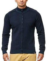 Indicode Herren Miro Strickjacken Cardigan Rollkragen aus 100% Baumwolle 5  Farben S-XXL f6c72e183a