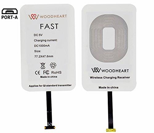 Android Qi Wireless Charging Receiver  Módulo de carga rápida de WOODHEART para la galaxia S4 / S5 / S6 / J7 de Samsung, nota 2/3/4/5/6 / 7and Otro Micro USB teléfono elegante androide